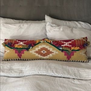 Anthropologie boho print reversible lumbar pillow